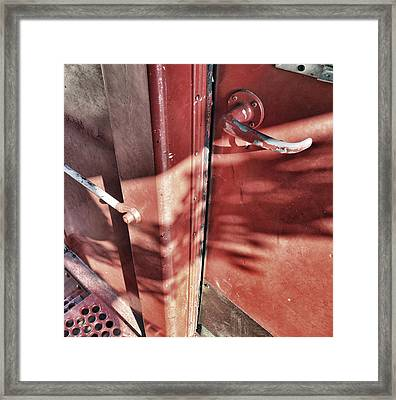 Behind The Red Door Framed Print by Jason Politte