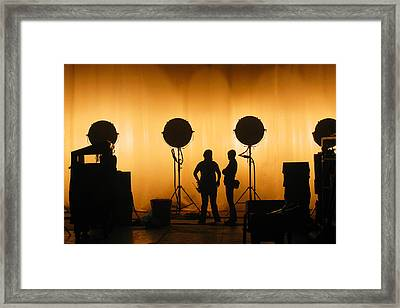Behind The Scenes Framed Print by Lesley DeHaan