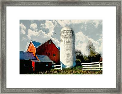 Behind The Silo Framed Print by Diana Angstadt