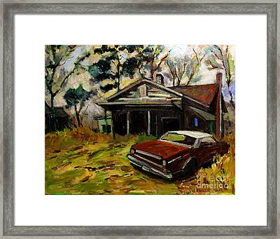 Behind The Times Framed Print by Charlie Spear