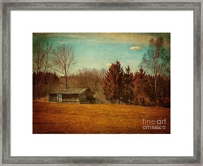 Behind The Village Framed Print by Jutta Maria Pusl