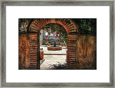 Behind The Walls Framed Print by Hanny Heim