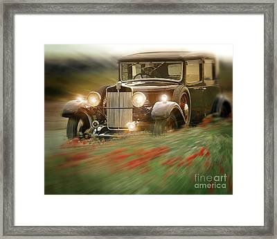 Behind The Wheel Framed Print by Edmund Nagele
