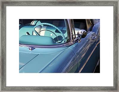 Behind The Wheel Framed Print by Luke Moore