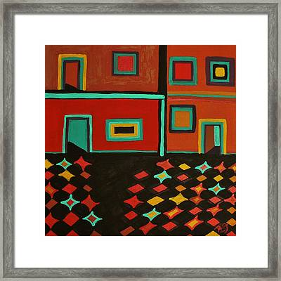 Behind Which Door Framed Print by Barbara St Jean