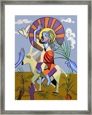 Behold The Lamb Of God Framed Print by Anthony Falbo