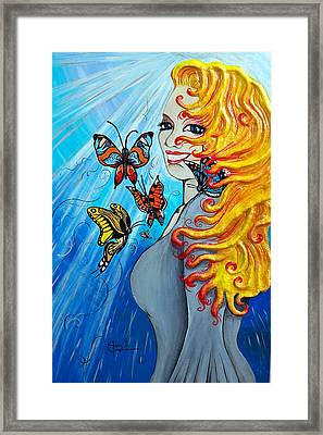 Behold The New Has Come Framed Print by Ohso Faboolus