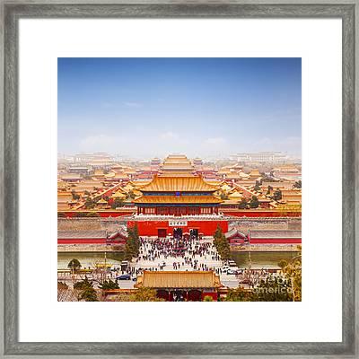 Beijing Forbidden City Skyline Framed Print by Colin and Linda McKie