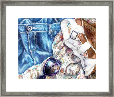 Being A Girl Framed Print by Shana Rowe Jackson