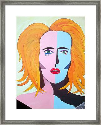 Being A Woman Framed Print by Aileen Carruthers