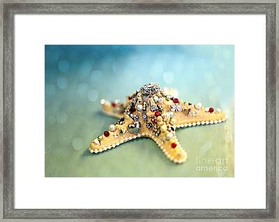 Bejeweled Starfish Framed Print by Sylvia Cook