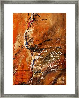 Believe In Dreams - Abstract Art Framed Print by Ismeta Gruenwald