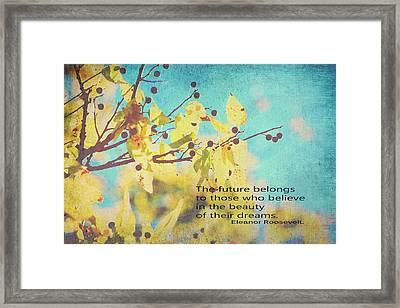Believe In Dreams Framed Print by Toni Hopper