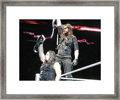 Believe In The Shield Framed Print by Anibal Diaz