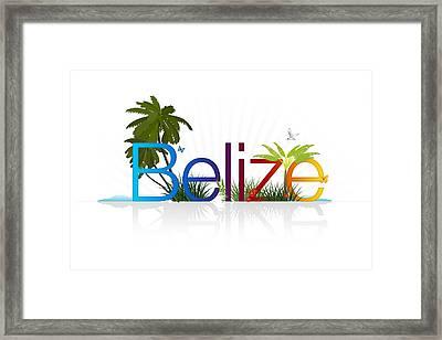 Belize Framed Print by Aged Pixel