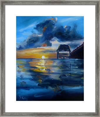 Belizean Sunrise Framed Print by Donna Tuten