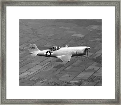 Bell Aircraft Xp-77 Framed Print by Underwood Archives