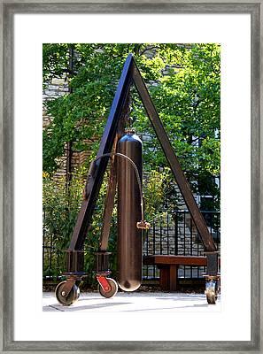 Bell On Wheels Framed Print by Chip Vander Wier