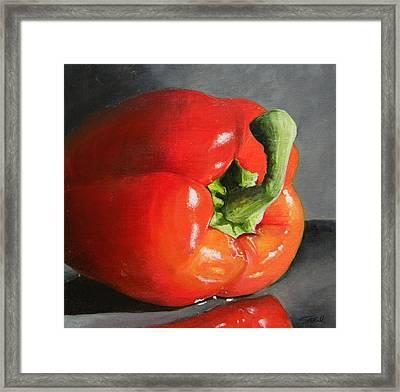 Bell Pepper Mini Framed Print by Steve Goad