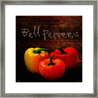 Bell Peppers II Framed Print by Lourry Legarde