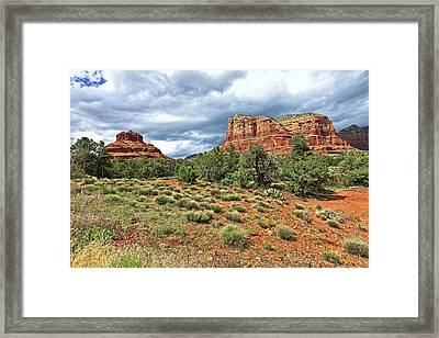 Bell Rock At Sedona Az. Framed Print by James Steele