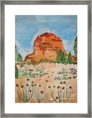 Bell Rock Framed Print by Marcia Weller-Wenbert