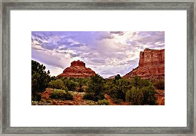 Bell Rock Vortex Painting Framed Print by Bob and Nadine Johnston