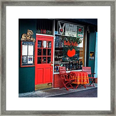 Bella Italia In Port Angeles Washington Framed Print by Julie Magers Soulen