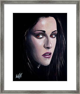 Bella Swan - Kristen Stewart Framed Print by Tom Carlton