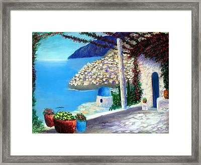 Bella Vista Di Amalfi Framed Print by Larry Cirigliano