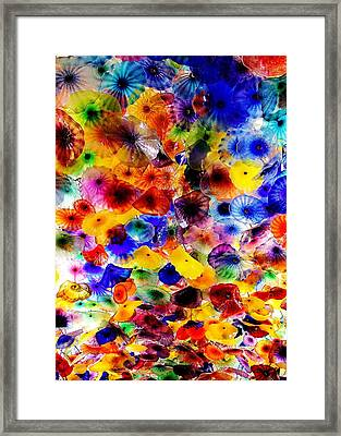 Bellagio Garden Of Glass Framed Print by Benjamin Yeager