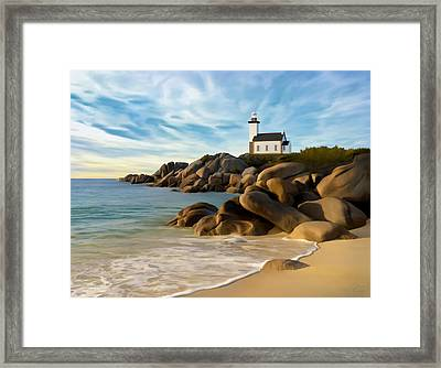 Belle Isle Light Framed Print by James Charles