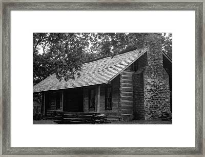 Belle Meade Log Cabin Framed Print by Robert Hebert