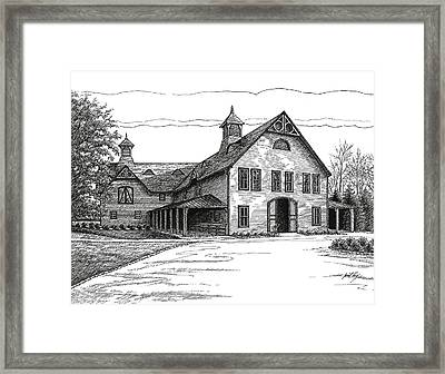 Belle Meade Plantation Carriage House Framed Print by Janet King