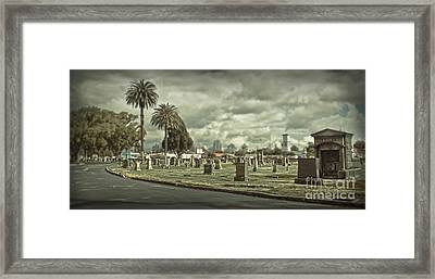 Bellevue Cemetery Crypt - 02 Framed Print by Gregory Dyer