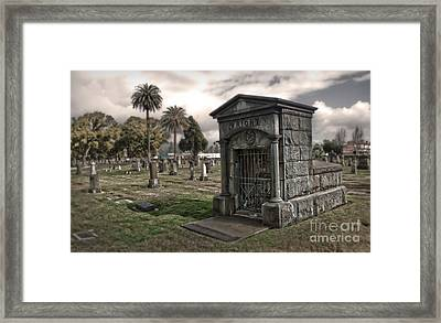Bellevue Cemetery Framed Print by Gregory Dyer