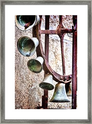Bells In Sicily Framed Print by David Smith