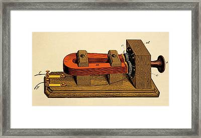 Bell's Long Distance Telephone. Framed Print by David Parker