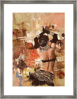 Belly Dancer Back Framed Print by Corporate Art Task Force
