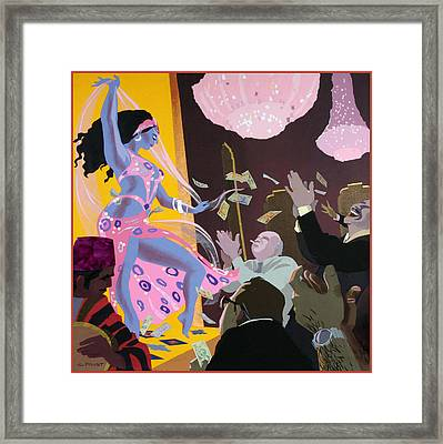 Belly Dancer Framed Print by Clifford Faust