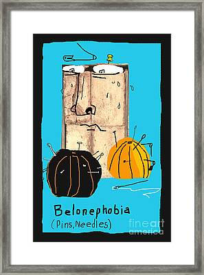 Belonephobia Framed Print by Joe Jake Pratt