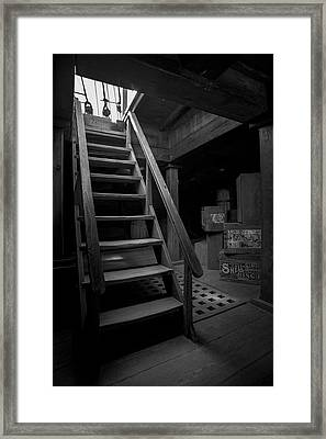 Below Deck - Charles W Morgan Whaling Ship Framed Print by Gary Heller