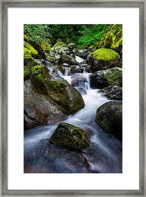 Below Rainier Framed Print by Chad Dutson