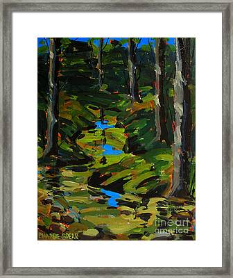 Below The 8th Green Framed Print by Charlie Spear