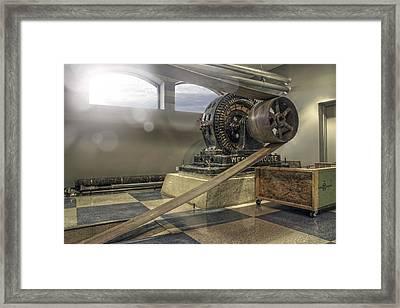 Belt-driven Power Framed Print by Jason Politte