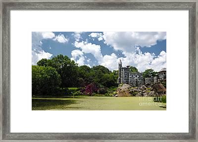 Belvedere Castle Turtle Pond Central Park Framed Print by Amy Cicconi