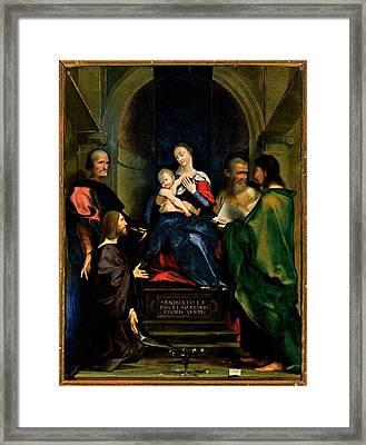 Bembo Giovan Francesco, Madonna Framed Print by Everett