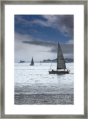 Bembridge Pier From Gosport Framed Print by Terri Waters