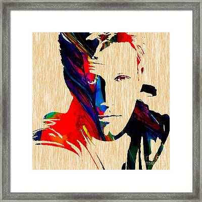 Ben Affleck Collection Framed Print by Marvin Blaine