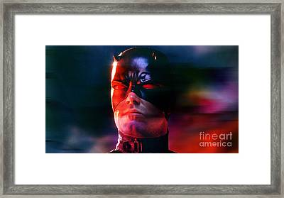 Ben Affleck Daredevil Framed Print by Marvin Blaine